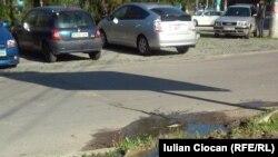 Pe strada Andrei Doga la Chișinău...