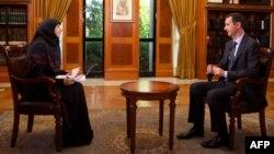 بشار اسد، رئیس جمهور سوریه، در گفتوگو با شبکه تلویزیونی المنار