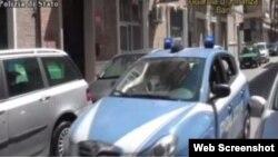 Машина, на которой увезли задержанного Бомбаталиева. Cкриншот с RepTv