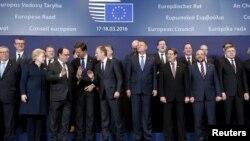 Եվրամիության գագաթնաժողովի մասնակիցները, Բրյուսել, 17-ը մարտի, 2016թ․