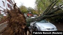 Наслідки циклон «Герварт» в Німеччині, 29 жовтня 2017 року