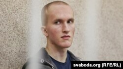 Belarus - Trial on a case of Uladz Kazakevich accused on attack with a chain saw in the trade center and murder, Minsk, 20Feb2016