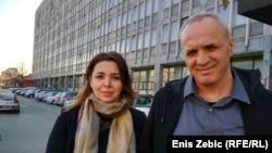 Sanja Mikleušević-Pavić i Hrvoje Zovko nakon ročišta u Zagrebu