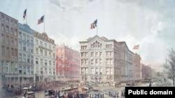 Здание редакции и типографии New York Daily Tribune. 1868