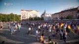 Peste 10.000 de oameni au protestat la Cluj în sprijinul mitingului diasporei de la București