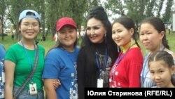 Альбина Дегтярева со зрителями
