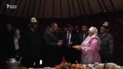 Ўшда Ўзбекистон делегациясининг тантанали кутиб олиниши