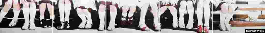 №003 – Светлана Хансеман Панорама «1-й класс». 2010 год. 190х150 см. Холст, масло. Courtesy автор