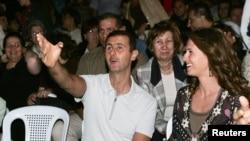 Сирия -- Президент Башар Асад и его супруга Асма на джазовом концерте в Алеппо, 7 июоя 2006 г.