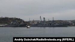 Сторожевой корабль «Пытливый» и противолодочный корабль БПК «Керчь». Архивное фото