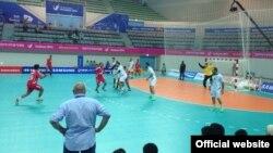 نمایی از بازی ایران و عمان- سایت فدراسیون هندبال ایران