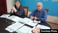Владимир Тарасов пен Валентина Тарасова. Өскемен, 25 сәуір 2018 жыл.