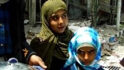 من داخل مخيم اليرموك قرب دمشق