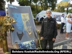 Вадим Маштабей на виставці «Блокпост пам'яті»