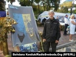 Вадим Маштабей на выставке «Блокпост памяти»