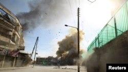 Шема -- Алеппона йистехь Асадан ницкъаша яккхий бомбанаш йиттича гIаьттина кIур, 31Деч2014