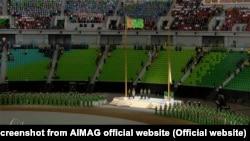 """Несмотря на согнанную еще с утра воскресенья массовку, церемония открытия """"Азиады"""" прошла при полупустых трибунах"""