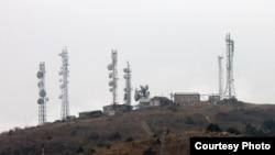 Унгартепадаги Қирғизистонга қарашли радиореле станциялари.