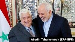 Mohammad Javad Zarif (sağda) suriyalı həmkarı Walid al-Muallem ilə Tehranda görüşür, 5 fevral, 2019-cu il