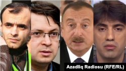 Комбо. Слева направо: журналист Расим Алиев, Эмин Милли, Ильхам Алиев, Эмин Гусейнов