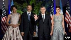 Барак и Мишель Обама на приеме у президента Аргентины Маурисио Макри