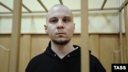 Владимир Акименков перед рассмотрением ходатайства о продлении ареста в Басманном суде