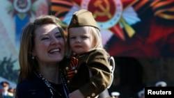 На параде в Москве в 2016 году.