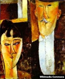 """Amedeo Modigliani-nin rəsmlərindən. """"Bəy və gəlin"""" (1915-1916)"""