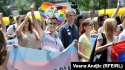 Trans prajd, Beograd, 25. jun 2016.