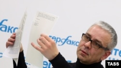 Dmitry Kovtun gjatë konferencës së sotme për shtyp në Moskë