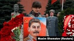 У могилы Сталина, 5 марта 2019