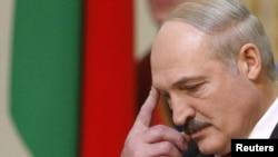 Belarus -- President Alyaksandr Lukashenka at his inauguration ceremony in Minsk, 21Jan2011