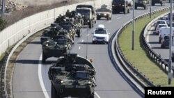 ჩეხეთში აშშ-ის ჯარების გადაადგილება. 30 მარტი 2015 წ.