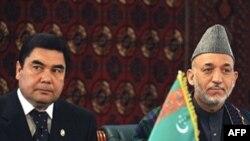 Претседателите на Туркменистан и на Авганистан
