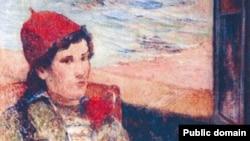 Yandırılmış rəsmlərdən biri: Paul Gauguin-in 1998-ci ildə çəkdiyi «Açıq pəncərə qabağında qız» əsəri.