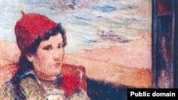 """Yandırılmış rəsmlərdən biri: Paul Gauguin-in 1998-ci ildə çəkdiyi """"Açıq pəncərə qabağında qız"""" əsəri."""