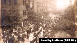 Cümhuriyyətin 1 yaşı. Bakı. 28 may 1919