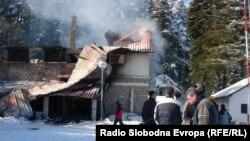 Копанки, еден од најпосетуваните планинарски домови на Пелистер кој изгоре на 28 јануари.