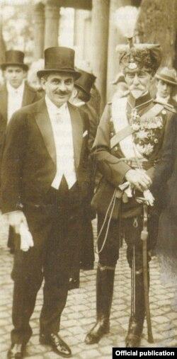 Petre G. Papacostea cu Mareșalul Averescu