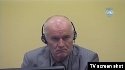 Ratko Mladić u sudnici u Hagu