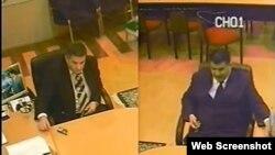 Экс-ректор Международного университета Эльшад Абдуллаев (справа). Скрытая камера в кабинете ректора.