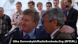 Мірча Луческу (праворуч) і президент «Шахтаря» Рінат Ахметов
