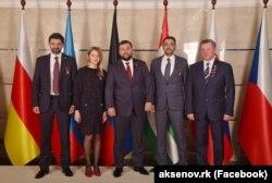 Наталія Поклонська і ватажки підтримуваних Росією угруповань