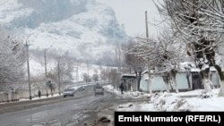 Snow in the southern Osh region is around one-meter deep in some places.