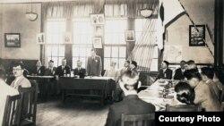 Кобедагы татарлар җыелышы. 1934 ел.
