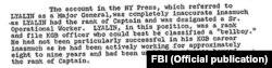 Фрагмент внутренней переписки ФБР о Лялине