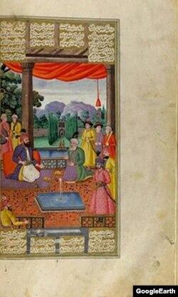 "Мухаммед Заман. Фирдосуинин ""Шахнаме"" дастанына иллюстрация. 1669-жыл. Метрополитен музейи, Нью-Йорк."