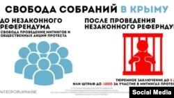 Инфографики посольства США в России о судьбе Крыма после аннексии