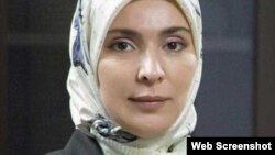Жена муфтия Дагестана Айна Гамзатова, кандидат в президенты РФ
