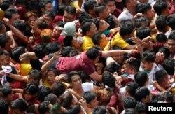Католический праздник на Филиппинах. 9 января 2017 года